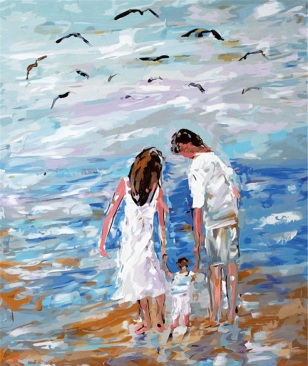 Seascape-family-parents-painting-Home-Decor-abstract-drawing-picture-By-Numbers-Handwork-Canvas-decoration-living-room
